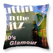 1930's Glamour Throw Pillow