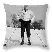 1930s Man Looking At Camera Posing Throw Pillow