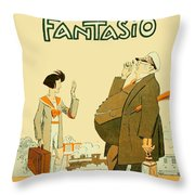 1931 - Fantasio French Magazine Cover - September - Color Throw Pillow