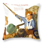 1931 - Liberty Magazine Cover - March 7 - Leslie Thrasher - Color Throw Pillow