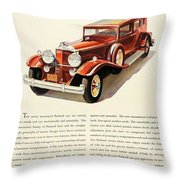 1931 - Packard - Advertisement - Color Throw Pillow