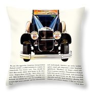 1931 - Packard Automobile Advertisement - Color Throw Pillow