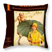 1931 - Parents Magazine - April - Color Throw Pillow