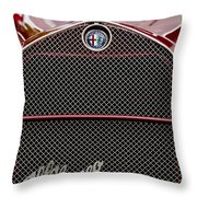 1931 Alfa-romeo Grille Emblem Throw Pillow