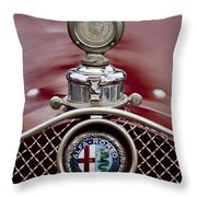 1931 Alfa-romeo Hood Ornament Throw Pillow