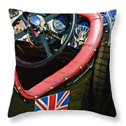 1931 Bentley 4.5 Liter Supercharged Le Mans Steering Wheel -1255c Throw Pillow