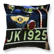 1931 Bentley 4.5 Liter Supercharged Le Mans Taillight Emblem Throw Pillow