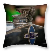 1931 Chevrolet Emblem Throw Pillow
