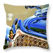 1931 Chrysler Cg Imperial Dual Cowl Phaeton Hood Ornament - Grille Throw Pillow
