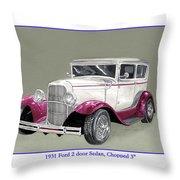 1931 Ford 2 Door Sedan Street-rod Throw Pillow
