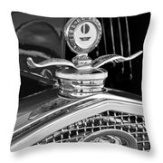 1931 Model A Ford Deluxe Roadster Hood Ornament 2 Throw Pillow