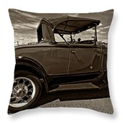 1931 Model T Ford Monochrome Throw Pillow by Steve Harrington