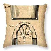 1931 Philco Radio Patent Throw Pillow