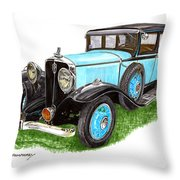 1931 Studebaker President Throw Pillow
