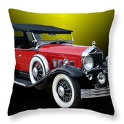 1931 Willys Knight Plaid Side Throw Pillow