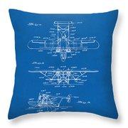 1932 Amphibian Aircraft Patent Blueprint Throw Pillow