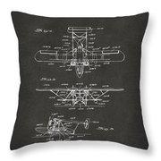 1932 Amphibian Aircraft Patent Gray Throw Pillow