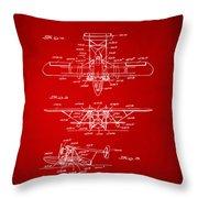1932 Amphibian Aircraft Patent Red Throw Pillow