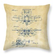 1932 Amphibian Aircraft Patent Vintage Throw Pillow
