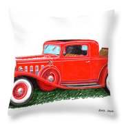 1932 Cadillac Rumbleseat Coupe Throw Pillow