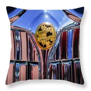 1932 Chrysler Ch Imperial Cabriolet Grille Emblem Throw Pillow