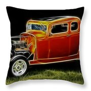 1932 Ford Fenderless Coupe Throw Pillow