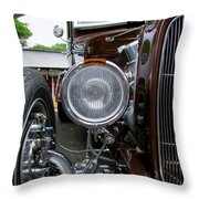 1932 Ford Roadster Head Lamp View Throw Pillow