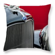 1932 Ford V8 Grille - Hood Ornament Throw Pillow