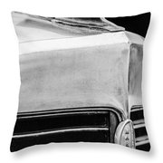 1932 Marmon Sixteen Lebaron Victoria Coupe Hood Ornament - Grille Emblem - 1904bw Throw Pillow