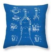 1932 Medical Stethoscope Patent Artwork - Blueprint Throw Pillow
