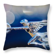 1932 Packard 12 Convertible Victoria Hood Ornament -0251c Throw Pillow
