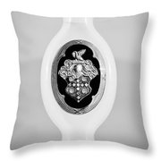 1932 Packard Emblem -1078bw Throw Pillow