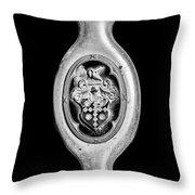 1932 Packard Emblem -1096bw Throw Pillow
