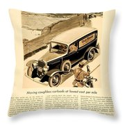 1933 - Chevrolet Commercial Automobile Advertisement - Old Gold Cigarettes - Color Throw Pillow