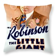 1933 - The Little Giant - Warner Brothers Movie Poster - Edward G Robinson - Color Throw Pillow