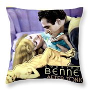1933 - After Tonight Motion Picture Poster - Constance Bennet - Gilbert Roland - Color Throw Pillow