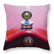 1933 Alfa Romeo P-2 Monza Hood Ornament Throw Pillow