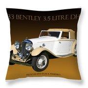Bentley Derby D H C  Throw Pillow