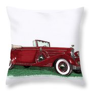 1933 Cadillac Convert Victoria Throw Pillow