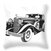 Cadillac Victoria V 16 Convertible Throw Pillow