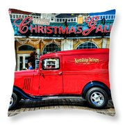 1933 Chevy Delivery Truck Red Throw Pillow
