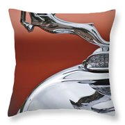 1933 Chrysler Cl Imperial Hood Ornament Throw Pillow