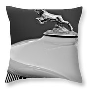 1933 Dodge Ram Hood Ornament 2 Throw Pillow