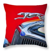 1933 Ford Hood Ornament Throw Pillow