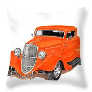 1933 Ford Three Window Coupe Throw Pillow