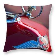1933 Pontiac Hood Ornament 3 Throw Pillow