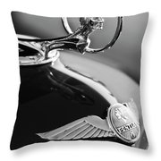 1933 Pontiac Hood Ornament 4 Throw Pillow