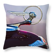 1933 Pontiac Hood Ornament Throw Pillow by Jill Reger