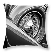 1933 Pontiac Spare Tire -0431bw Throw Pillow