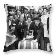 1933 Prohibition Repeal Throw Pillow